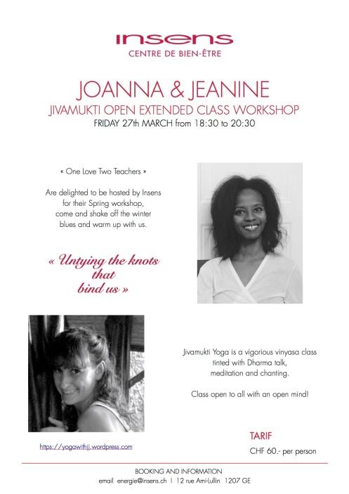 Joanna et Jeanine - Workshop Vendredi 27 Mars 2015